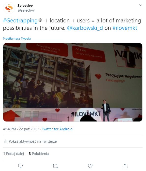 Geotrapping ®  + lokalizacja + użytkownicy = mnóstwo możliwości marketingowych w przyszłości.
