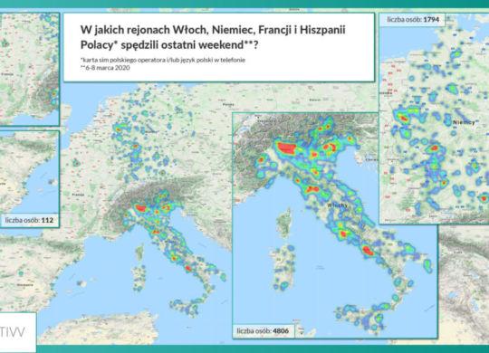 W jakich rejonach Włoch, Niemiec, Francji i Hiszpanii Polacy spędzili ostatni weekend