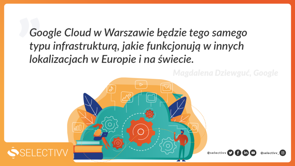 Cytat - Google Cloud w Warszawie będzie tego samego typu infrastrukturą, jakie funkcjonują w innych lokalizacjach w Europie i na świecie.