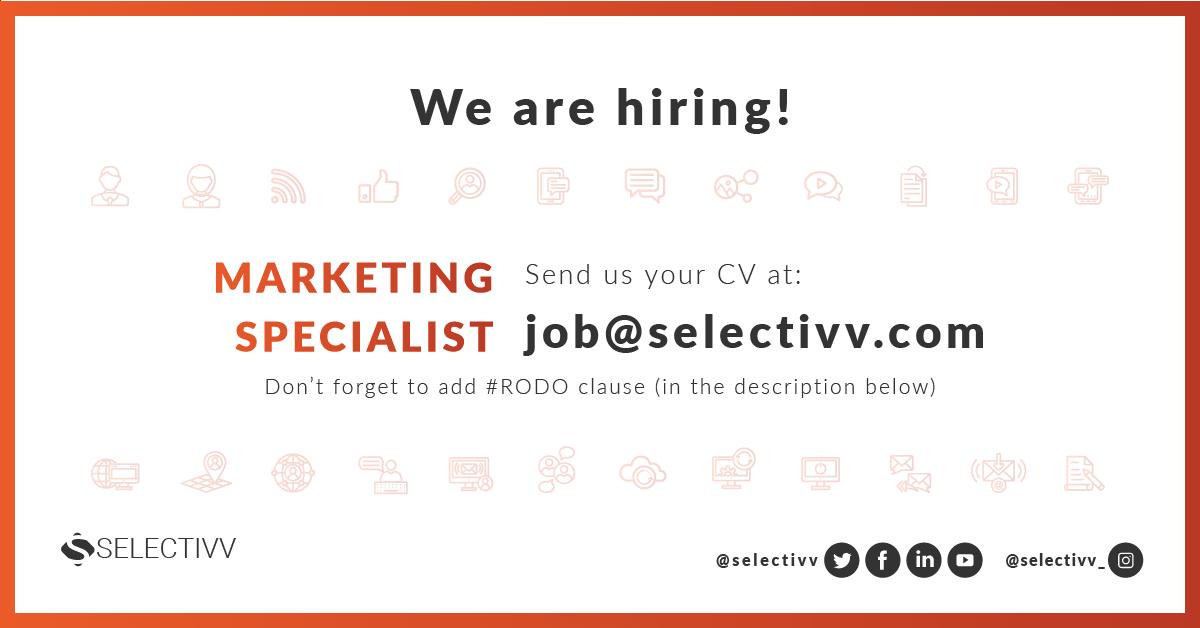 Recruitment Selectivv - Marketing Specialist